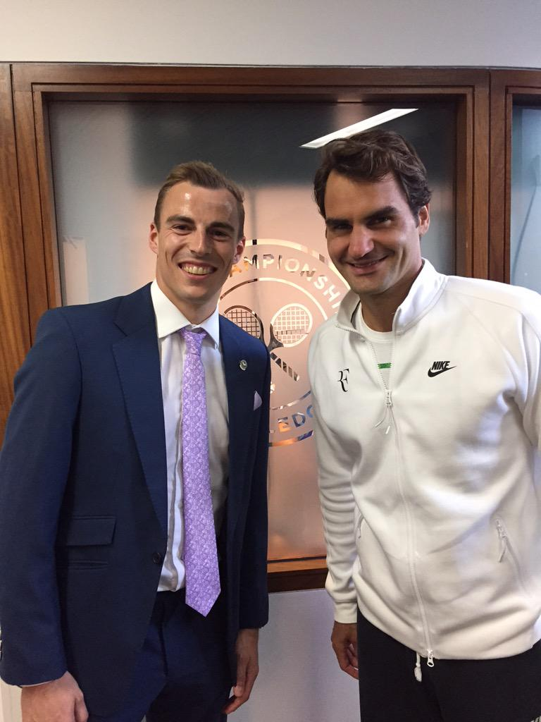 Great to watch & meet the great man @rogerfederer today http://t.co/lb5YA8tQ0x