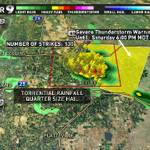 Heads up Greeley! Severe Tstorm Warning til 6pm! Torrential rains, quarter-size hail - stay inside. #9wx #cowx http://t.co/ZjOehfCgKx