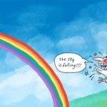 The sky is falling!!! @mdavidcartoons #auspol #insiders #SameSexMarriage #LGBT #EqualRights http://t.co/JtJc305vNv