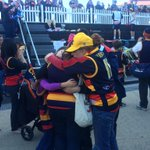 An outpouring of grief at Adelaide Oval as people gather before gates open to honour Phil Walsh #9newscomau http://t.co/OparnyBobv