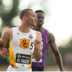Markhams Andre De Grasse won the 100-metre championship on Friday night in Edmonton. #running http://t.co/TrJ6G5v58e http://t.co/aDwlbdRykL