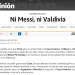 """Ni Messi, ni Valdivia"", mi columna sobre la final de la #CopaAmerica http://t.co/ZiCcevGFxq http://t.co/Z75g9WU9Ls"