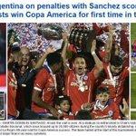 Los principales medios deportivos del mundo destacaron el campeonato de Chile en Copa América http://t.co/YRt1tzelZZ http://t.co/z09cK8zAZI