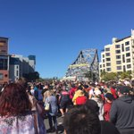 Huge crowds waiting to join the #StoryBridge75 party @ABCNewsBrisbane #StoryBridge http://t.co/E2j9f4pGMb