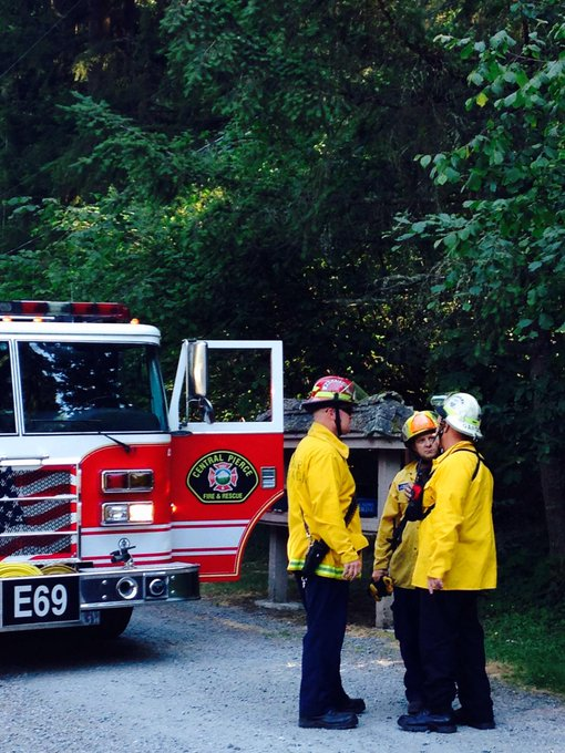 Fire in wooded area near Tacoma Reservoir. @CPFR_PIO coordinating response. #Q13Fox http://t.co/17rO7N0nW8
