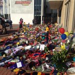 The memorial for Phil Walsh continues to grow at @Adelaide_FC. Overwhelming grief here still. People are dumbfounded http://t.co/ChyvMDsOYE