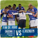 2T (2-0) - 45 - FIM DE JOGO NO MINEIRÃO! O #CRUZEIRO VENCE POR 2-0. GOLS DE ARRASCAETA E DO ESTREANTE, MARINHO! http://t.co/s0nqJxbuvV