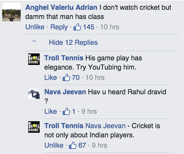 From Sanga's #Wimbledon pic from Troll Tennis. Apply aloe vera to the burnt area of 3,287,590 km². #trollindia http://t.co/pKV1GCqlJH