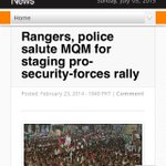 Sindh Rangers & police salute #MQM for staging pro security forces rally http://t.co/lQcBU0Oslu http://t.co/X2nHSTSwlV