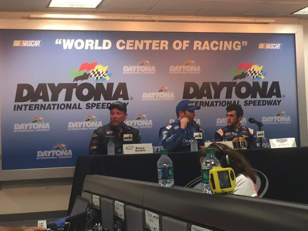 Talking about his top-5 finish in the media center. -PR http://t.co/WS9S6XEXSw