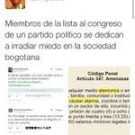 Mientras Bogotá se sumerge en la zozobra el imbécil de @petrogustavo se dedica a amenazar tuiteros por una mención. http://t.co/NRMW7QqTpq