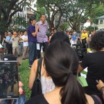 Former political detainee Teo Soh Lung speaking at #FreeAmosYee, definition of child in Singapore varies. http://t.co/LfNrYRsE7w