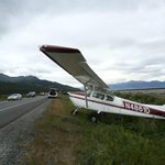 Updated story & photos: Plane makes emergency landing on the Seward Highway http://t.co/N08q0EwIrc http://t.co/NGkr4xlDX1