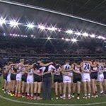 @stkildafc and @EssendonFC continue the weekends tradition of paying tribute to #PhilWalsh @7NewsAdelaide http://t.co/MvxDClxt10