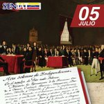 Hoy celebramos 204 años de la independencia de Venezuela #GloriaAlBravoPueblo #VenezuelaLibreYSoberana http://t.co/FGN2T6hqzC