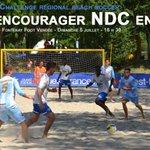H-1 ! Venez nombreux encourager NDC pour la finale régionale de #beachsoccer au Lac-de-Maine d#Angers ! http://t.co/t536CortB3