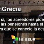 #SiGanaElSí los acreedores piden a Grecia congelar las pensiones hasta el año 2021 para que se cancele la deuda http://t.co/EKF46Y7qRT