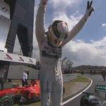 MAGIC MOMENT: Hamilton celebrates his third #BritishGP victory http://t.co/F80O4jDs9d
