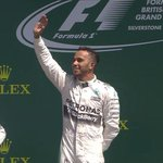 Hamilton salutes the crowd at #Silverstone as God Save the Queen rings out: http://t.co/JHyyNBMaAT #BritishGP http://t.co/3wODDFLJM4