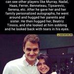 "What a great guy! RT @abbasnasir59: ""@TSBible: Classiest tennis player ever. Roger Federer! http://t.co/ADnXoKUTBc"""