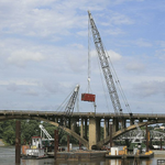 River flooding puts Broadway Bridge work 2½ months behind: http://t.co/xh4OmP3Ssa #ArkDG http://t.co/jfjL2nZ7bR