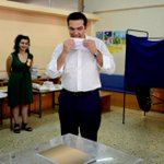 This is the Greek PM @tsipras_eu rolling a joint in a school. Sorry, voting. #Greece #Grefenderum http://t.co/nf2LHp2NTn