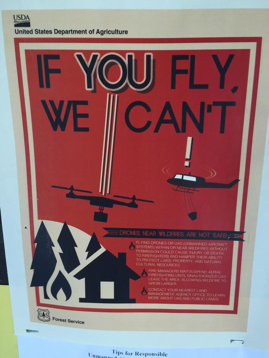 Drone warnings during fire season from the @usda. Cc @Jason http://t.co/rR7Bf9x5Rn