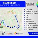 ATENCIÓN. Conozca la ruta que realizará @Pontifex_es a su llegada @AeropuertoUIO y trasldado hasta la Nunciatura http://t.co/VNQpTtfuYQ