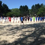 Coup denvoi de la finale régionale de #BeachSoccer entre @NDCAngersFoot et @VFFOfficiel cc @LigueAtlantique #Angers http://t.co/jwI0oas4sY