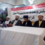 MWM DSG Allama @AminShaheedi addressing Press Conference at Karachi demanded strict security measures for #YoumeALI http://t.co/G48NVRjGbq