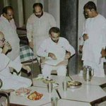 1980s :: Narendra Modi Having Supper with Lal Krishna Advani . Amit Shah can also be seen http://t.co/2pfOPlCkHh