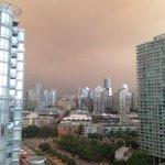 Not a very nice morning over #Vancouver today. #smokeshow @NEWS1130Radio http://t.co/UqoYu1U1JO