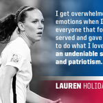 .@laurenholiday12 on playing in the biggest game of her life and representing the #USA. http://t.co/FypXNkmYrF