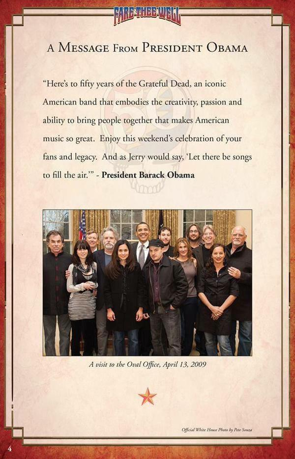 A Message From President Barack Obama on the Grateful Dead's 50th anniversary http://t.co/XUhZkgBPSt http://t.co/pQ8sUUd9AY