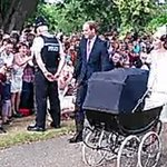 Princess Charlotte arrives for her christening http://t.co/3nMl2zZtZm http://t.co/s7BuHuozhI