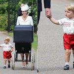 Via @hellomag: Photos as the royal family arrived for #PrincessCharlotte s christening: http://t.co/urvO3lPCjR http://t.co/qbYoE584zC