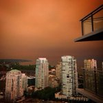 Ash fell from the sky Sun. as wildfire #smoke blocked the sun. Credit: @JodieEmery. Share photos #CTVFireLine http://t.co/ThjDSTsfsL