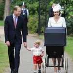 The Duke and Duchess and their children arrive at St Mary Magdalene Church for Princess Charlottes christening http://t.co/KJ1UJhSI5r