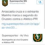 Marinho já está causando ódio na imprensa Rosa! Reparem a diferença de tweet nos segundos gols do Cruzeiro e América! http://t.co/am7wpMIw4q