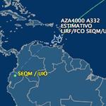 Cuestión de minutos para que avión de @Pontifex_es vuele sobre el continente #FranciscoEnEcuador http://t.co/GLQPqQrfqB