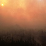 Many reports of hazy skies in coastal BC / Van Island. Smoke is drifting in from fires across BC. http://t.co/jtK7aCH4eH
