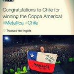 #Metallica tambien saluda al campeón #ChileCampeonDeAmerica http://t.co/9Maxi1uaqQ