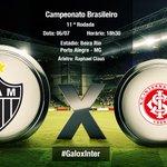 Hoje tem #Galo x Inter, pela 11ª rodada do Brasileirão! Siga pelo @Atletico e use a tag #GaloxInter para comentar! http://t.co/mxpahXPHfP