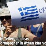 #OXI. orf schlagzeilt »Reformgegner in Athen klar voran« als ob Troika Reformmonopol hätte #orfail #stopausterity http://t.co/wJWAELUYV8
