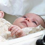 Princess Charlotte after her christening at the Church of St Mary Magdalene #Sandringham today http://t.co/xxV10WNBBH