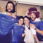 World Cup time w/ @realGpad @JensenAckles and @DanneelHarris !!! #WomensWorldCup holy moly @CarliLloyd !! http://t.co/kcHYdgYcQo