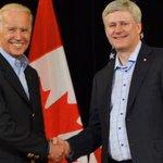 .@pmharper and @VP Joe Biden meet in #Vancouver before #USA #JPN #FIFAWWC Final http://t.co/HciMxUE63c http://t.co/vK3tLecXsK
