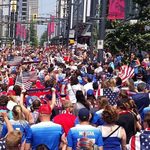 The Americans have taken over #Vancouver! Photos/videos of fans in the city: http://t.co/EAssCWcCml #FIFAWWC #USA http://t.co/7K95Ap6tnY