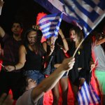 #Greferendum recap: Party time in Athens as Greek voters reject deal with creditors by 61%-39% http://t.co/49FYafd2U6 http://t.co/1FZ5f248Rf