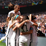 #USWNT celebrating a goal. Hmmm. Want to say its @CarliLloyds first one? #USA 4, #JPN 0 http://t.co/r706TWuIqa